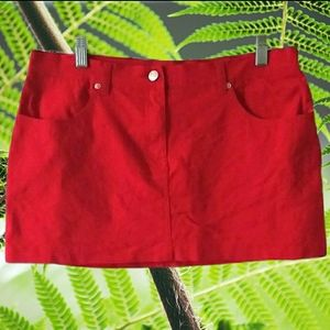 Blue Asphalt Mini Red Skirt 11